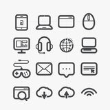 Different web icons set. With rounded corners. Design elements Stock Photography