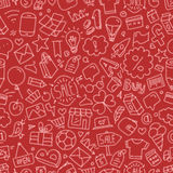 Different web interface doodle silhouettes seamless pattern. Car Stock Photography