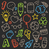 Different web interface silhouettes. Vector doodle Stock Images