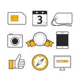 Different web lineart icons collection Stock Images