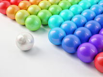Different white ball with reflection Stock Image