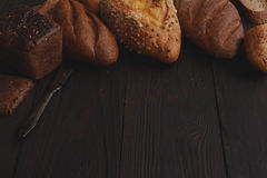 Different wholegrain breads Royalty Free Stock Photography