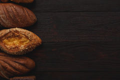 Different wholegrain breads Royalty Free Stock Photo