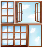Different window designs Royalty Free Stock Image