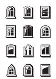 Different windows of buildings Royalty Free Stock Photo