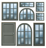 Different windows design Royalty Free Stock Photography