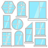 Different windows vector collection Stock Photo