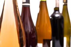 Different wine bottles Stock Photo