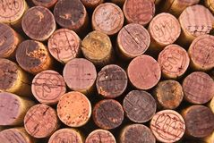 Different  wine cork tops Royalty Free Stock Photos