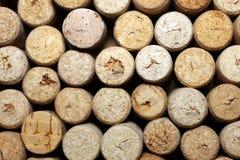 Different wine corks texture Stock Photos