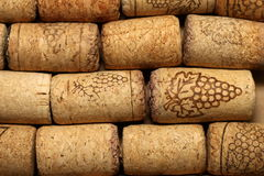 Different wine corks texture Royalty Free Stock Photo
