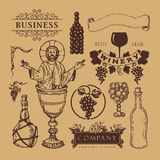 Different winery trademarks Royalty Free Stock Image