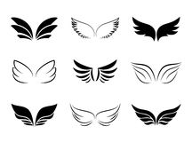 Different Wing Designs. Several Different Wing Designs on white background Royalty Free Stock Photo