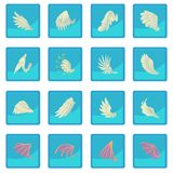 Different wings icon blue app. For any design vector illustration Royalty Free Stock Image