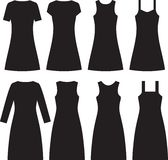 Different women dresses. Vector Stock Image