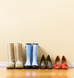 Different women's footware Royalty Free Stock Image