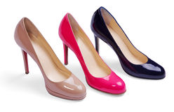 Different women shoes Stock Photography