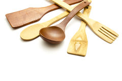 Different Wooden Spoon Royalty Free Stock Photography