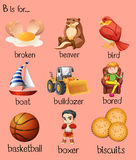Different words begin with letter B Royalty Free Stock Image