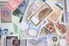 different world banknotes background Royalty Free Stock Images