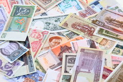 different world banknotes background Royalty Free Stock Photo