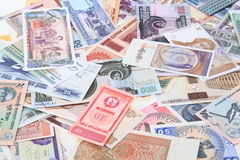 different world banknotes background Royalty Free Stock Photos