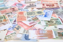 different world banknotes background Stock Photography