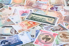 different world banknotes background Stock Images