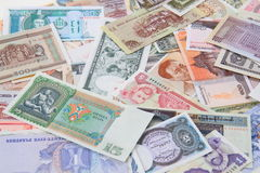 different world banknotes background Stock Image