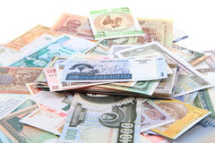 different world banknotes background Royalty Free Stock Image