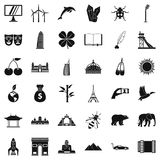 Different world icons set, simple style Royalty Free Stock Photo