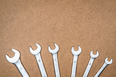 Different wrenches on the bottom Royalty Free Stock Photography