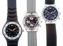 Different Wrist watches Stock Photo