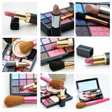 Make up collage Royalty Free Stock Photos