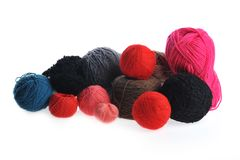 Different yarn balls Royalty Free Stock Image