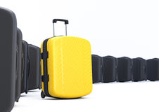 Different Yellow Suitcase Stock Image