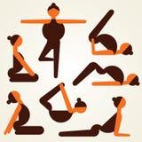 Different yoga pose stock.  Stock Photos
