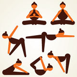 Different yoga pose stock.  Stock Photography
