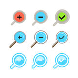 Different zoom color icons set Stock Image