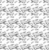 Differente nero a strisce del pesce del modello illustrazione vettoriale