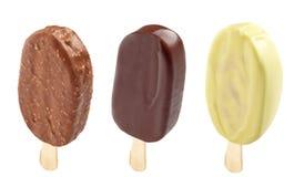 Differente tre gelato Immagini Stock Libere da Diritti