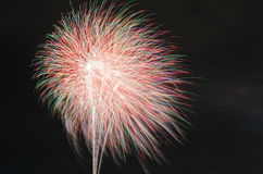 Differente variopinto dei fuochi d'artificio Fotografie Stock
