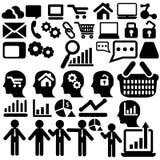 Differentes-Geschäftsikonen lizenzfreies stockbild