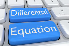 Differential Equation concept Royalty Free Stock Images