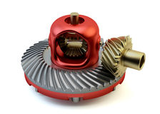 Differential gear isolated Stock Photo