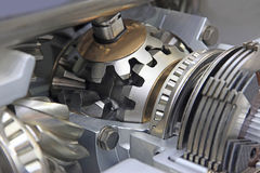The differential gear. Gear differential transmission with automatic control in the context Royalty Free Stock Photo