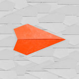 Differentiation concept with paper plane Royalty Free Stock Photos