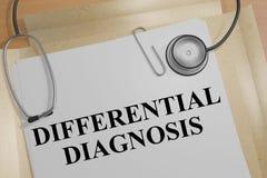 Differentiell diagnos - medicinskt begrepp royaltyfri illustrationer