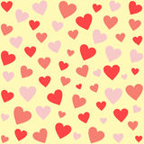 Differently sized hearts in different shades of red Stock Photography