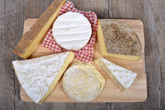 Differents french cheeses . Stock Images